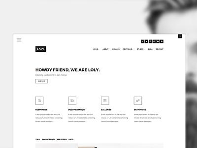 Loly Bootstrap Creative Portfolio Template responsive template site business portfolio multi purpose white black minimal bootstrap css html5