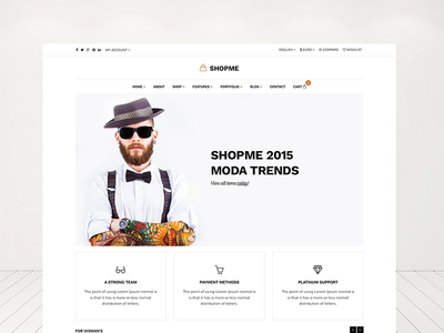 Shopme Bootstrap Responsive Shop Template responsive template site ecommerce shopping shop multi purpose orange minimal bootstrap css html5