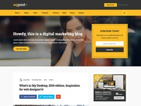 oPPost - Digital Marketing Blog Template (Coming soon)