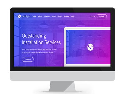 Landigoo - Multipurpose Single Page Creative Template web design bootstrap template landigoo