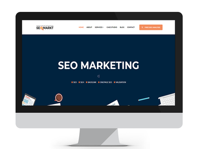 SEOMarkt Onepage Multipage Site Template bootstrap html5 marketing template seo