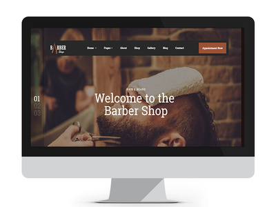 Barber Shop | Responsive Hairdresser Template shave html5 theme shop saloon barber