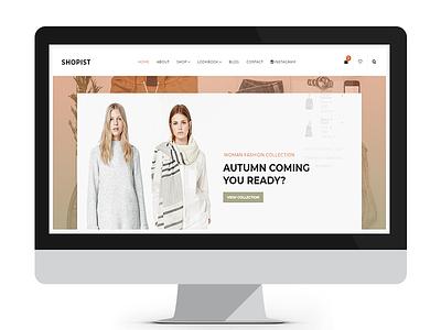 Shopist - Responsive Stylish Site eCommerce Template bootstrap html4 responsive shopist
