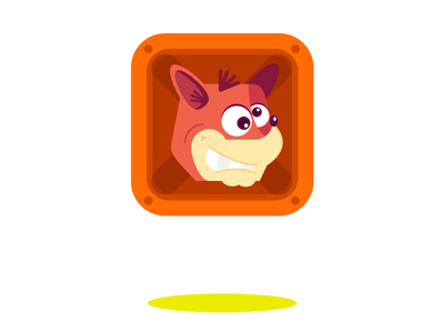 Mystery Box - Crash Bandicoot illustration design characterdesign flat vector crash