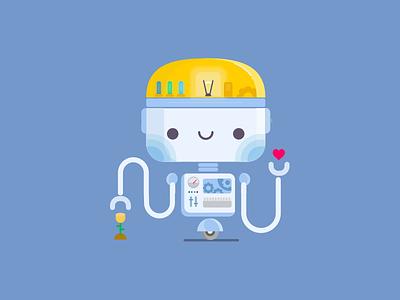 Botcito bot image illustration flat