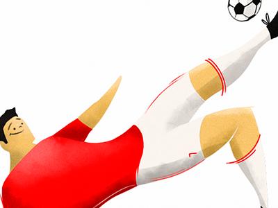 Soccer Player futbol brus illustration