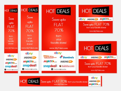 Hot deal banners