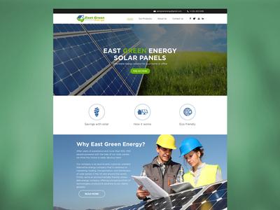 East Green Energy Website Design