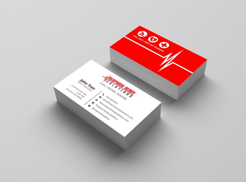 Response Ready Solutions Business Card Design