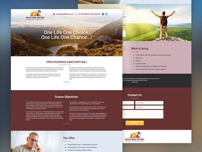 Preston Bridge Sanctuary Landing Page Design