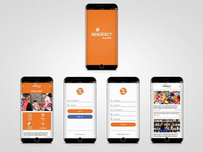 Sideffects mobile App mobile ui mobile design concept application app