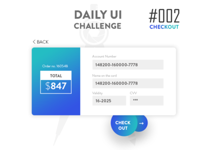 Daily UI Challenge 002 - Checkout form