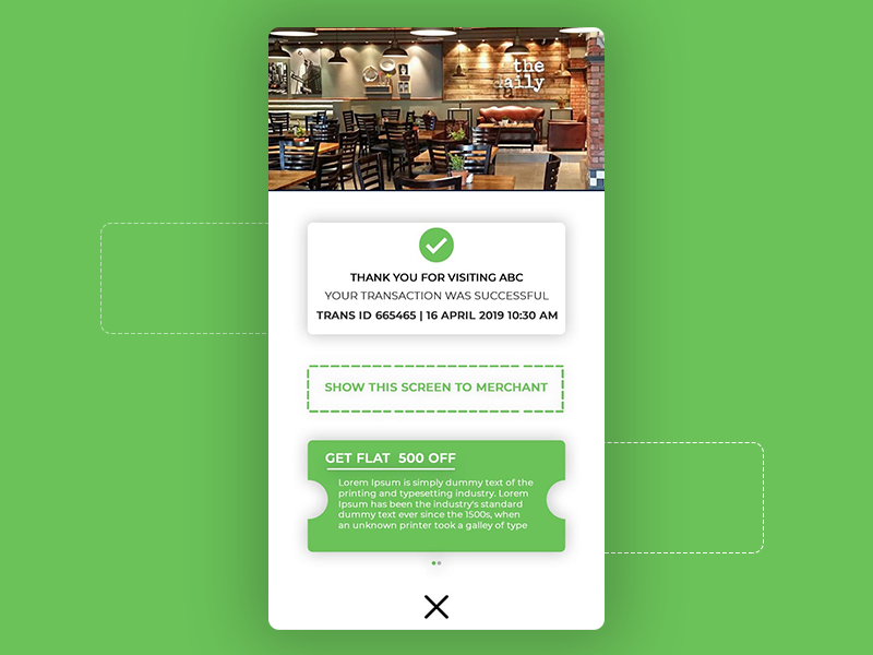 Receipt | Checkout | Food Ordering App application food delivery
