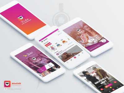 BSoChill - Stories, Videos, Rewards UI/UX Design