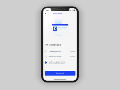 Verify your identity on Coinbase bitcoin app ux
