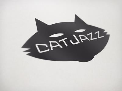 Jazz Quartet Logo black cat jazz quartet music band identity logo branding brand jazz cat