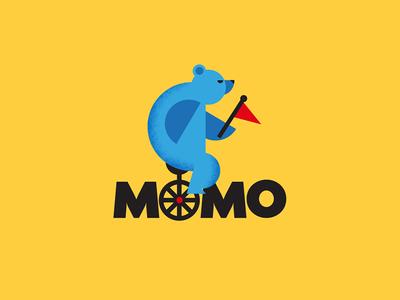Momo wine logo brand