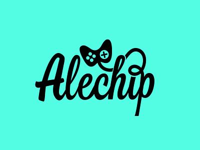 Alechip gamecenter game typography identity corporate identity branding logo brand design