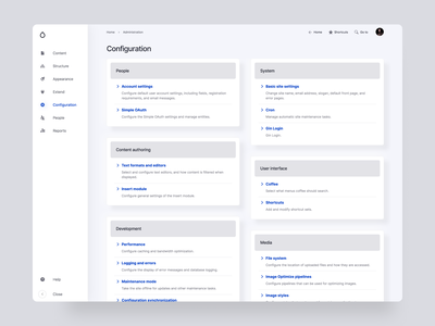 Gin FutureUI: Drupal Configuration overview content management administration overview redesign claro admin gin cms app future ui gin future ui drupal admin ui admin ui drupal