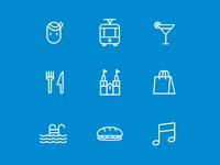 Icons for Zurich Tourism