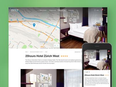 Zurich Tourism hotel detail page