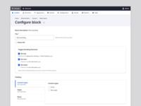 Drupal Configure Block