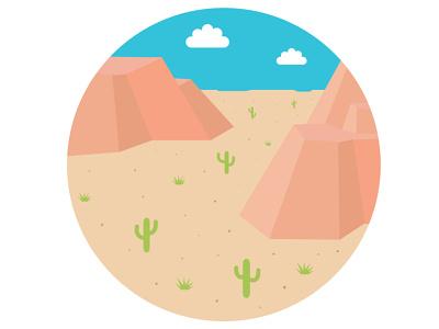 Desert Spot Illustration spot illustration mountains outside cactus nature design nature logo desert nature illustration nature logo vector doodle design drawing branding illustrator art illustration