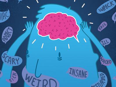 Dispelling Stigma mentalhealth health mental illustrator illustration art