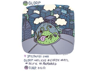 #ATLIENS atlart atl spaceship alien drawing illustration art doodle atliens