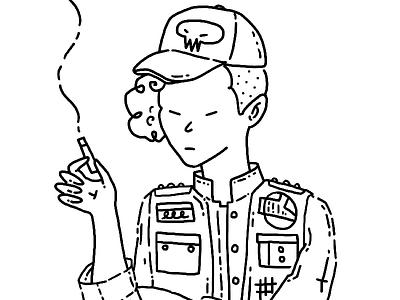 C1- Space trucker story art design character design illustration illustrator trucker space