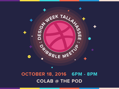 Dribbble Meetup: Design Week Tallahassee illustration vector tallahassee week design meetup dribbble