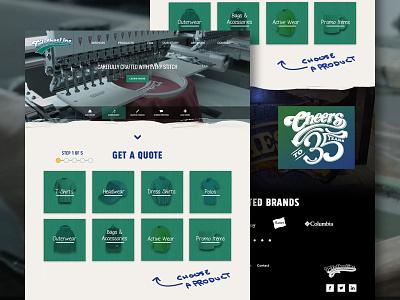 ClothesLine florida tallahassee local apparel custom website mockup design web