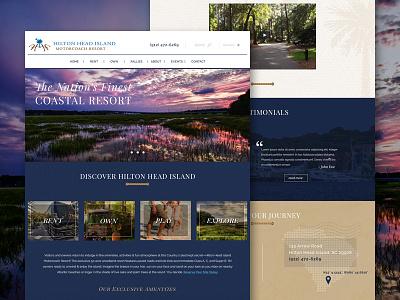 Hilton Head Island Motorcoach Resort south carolina head hilton motorcoach resort website mockup design web