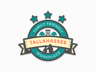 Family Friendly Workplace workplace friendly family local tallahassee badge illustration vector design graphic