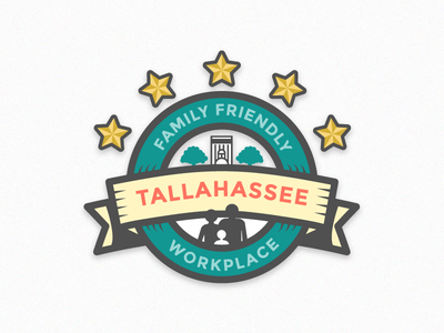 Family Friendly Workplace tallahassee local workplace friendly family design graphic illustration vector badge