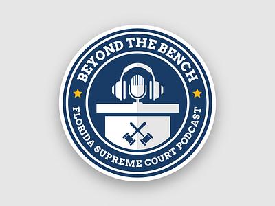 Florida Supreme Court - Beyond the Bench local podcast justice florida court supreme badge design graphic vector logo