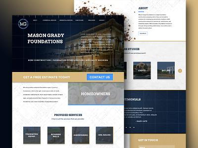 Mason Grady Foundations website web mockup foundations grady mason design