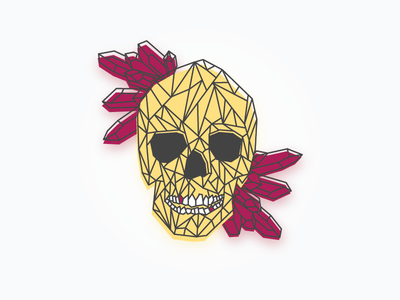 A Day Late crystals illustration vector skull
