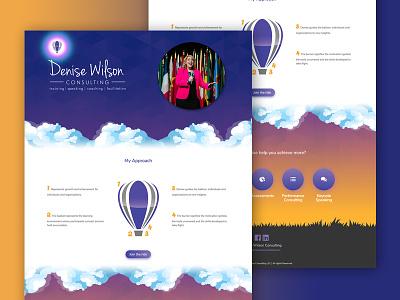 Denise Wilson Consulting balloon website consulting wilson denise design web