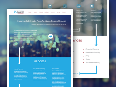 Mpower Investments greenhorn design mockup website web investments mpower