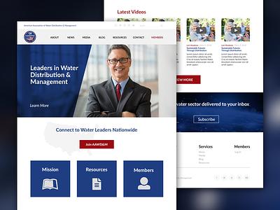 AAWD&M mockup website design web management distribution water association american