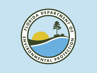 Florida DEP logo design brand government agency nature dep protection environmental department florida illustration badge