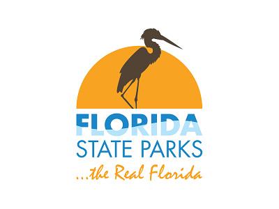 Florida State Parks graphic vector illustrator design sunset heron nature brand parks state florida logo