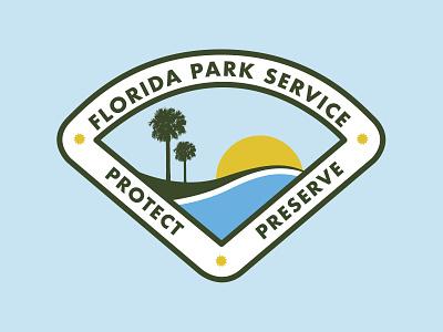 Florida State Park Service Patch vector design illustrator nature service park state florida patch