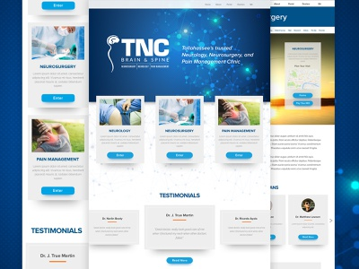 Tallahassee Neurological Clinic design system interface user experience graphic neurology clinic doctor tallahassee local ui ux mockup website design web