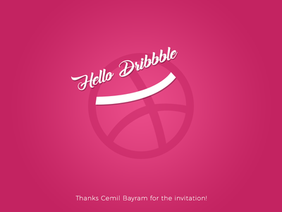 Hello Dribbble! hello dribbble first shot smile design happy
