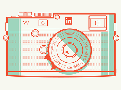 Camera Shirt linkedin illustration camera vector