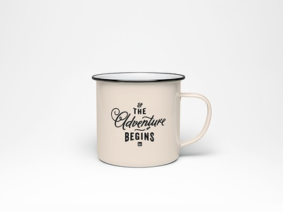 The Adventure Begins linkedin new design coffee typography mug