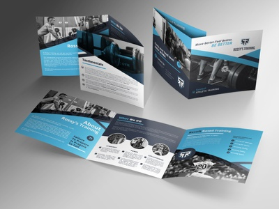Square Tri fold Brochure square brochure brochure
