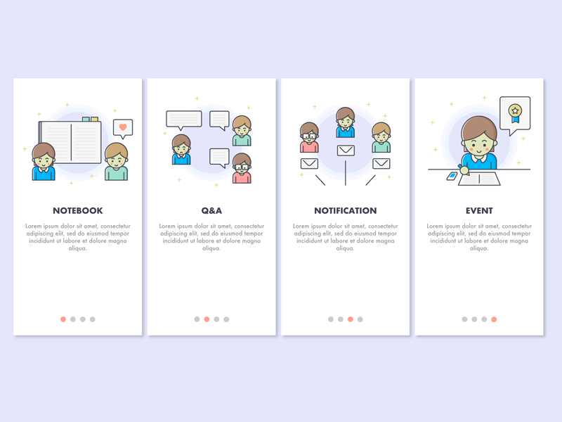 Onboarding screens illustration